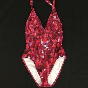 Women's Bikini Swim Suit Medium 8/10 Red One Piece